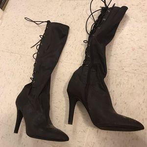 BCBG Dark Brown Stretchy Boots